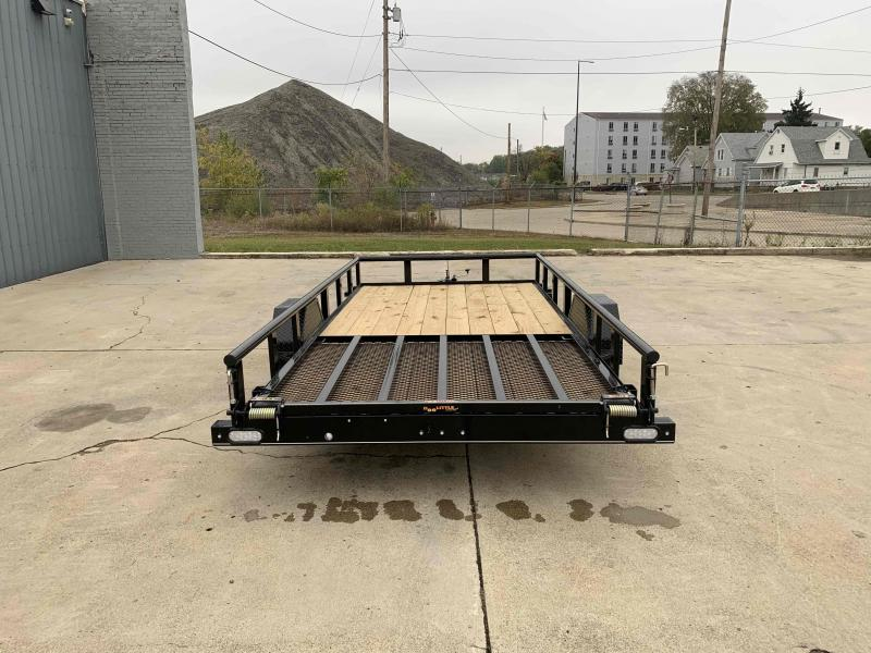 2021 Doolittle 77X14 Pipe Top 2990 LB GVWR 5' Mesh Gate Utility Trailer