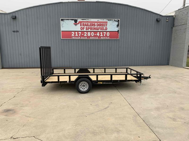 2021 Doolittle 77X14 Pipe Top 2990 LB GVWR 5' Mesh Gate Utility Trailer