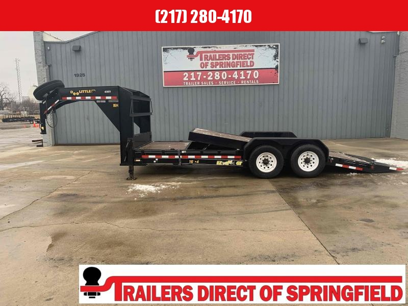 2018 Doolittle 82X20 (16+4) Gooseneck EZ Loader Equipment Trailer 16000 GVWR Spare Tire Tool Box