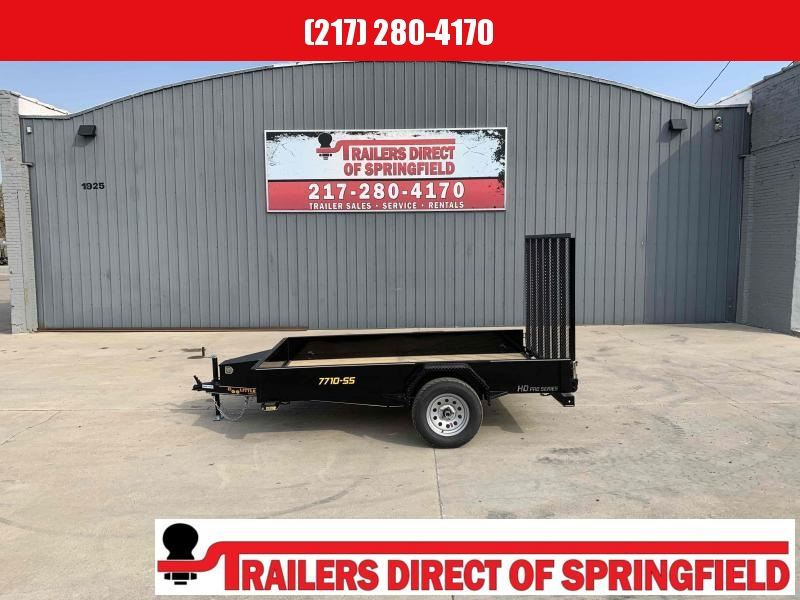 2021 Doolittle 77X10 Steel Side Utility Trailer 2990 GVWR 5' Mesh Gate w/ Spring Assist LED Lights Radial Tires