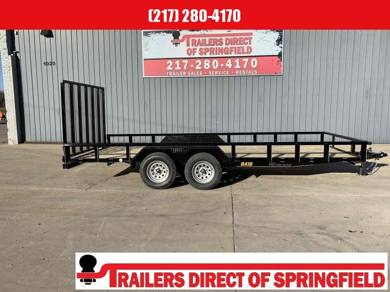2021 Doolittle 84X18 Pipe Top Utility Trailer 7000 GVWR 5' Mesh Gate w/ Spring Assist LED Lights Radial Tires Double Electric Brakes