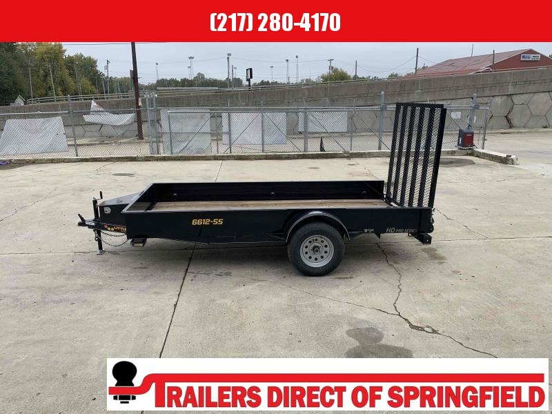 2020 Doolittle 66X12 Steel Side Utility Trailer 2990 GVWR 5' Mesh Gate Spare Tire Carrier
