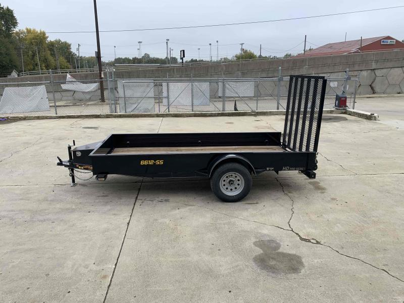 2020 Doolittle 66X12 Steel Side Utility Trailer 7K GVWR 5' Mesh Gate Spare Tire Carrier