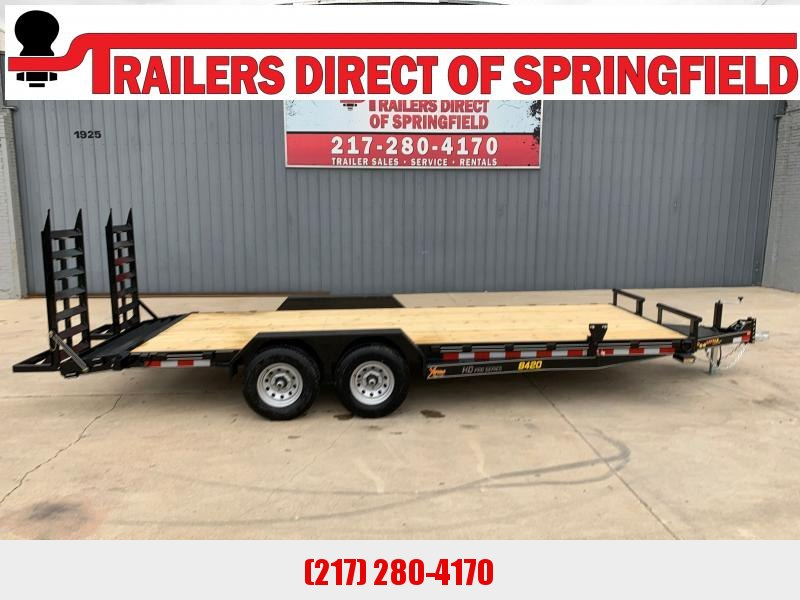 2021 Doolittle 84X20 Xtreme Equipment Trailer 9800 GVWR Flip Up Ramps Spare Tire Carrier