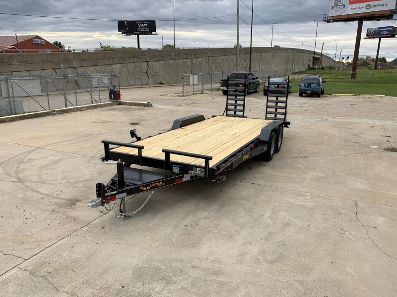 2021 Doolittle 84X20 Xtreme Equipment Trailer 9800 GVWR Flip Up Ramps Spare Tire Carrier
