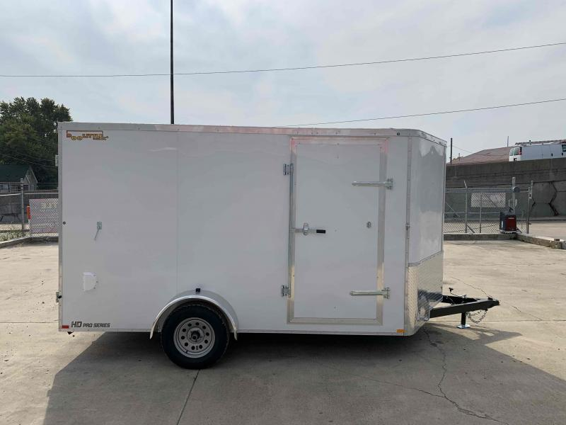 2021 Doolittle 7X12 Cargo Trailer 2990 GVWR Barn Door