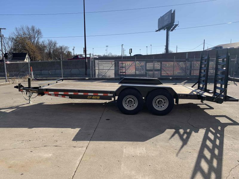 2019 Doolittle 82X18 CF Equipment Trailer 14K GVWR 2' Dovetail 7K Jack
