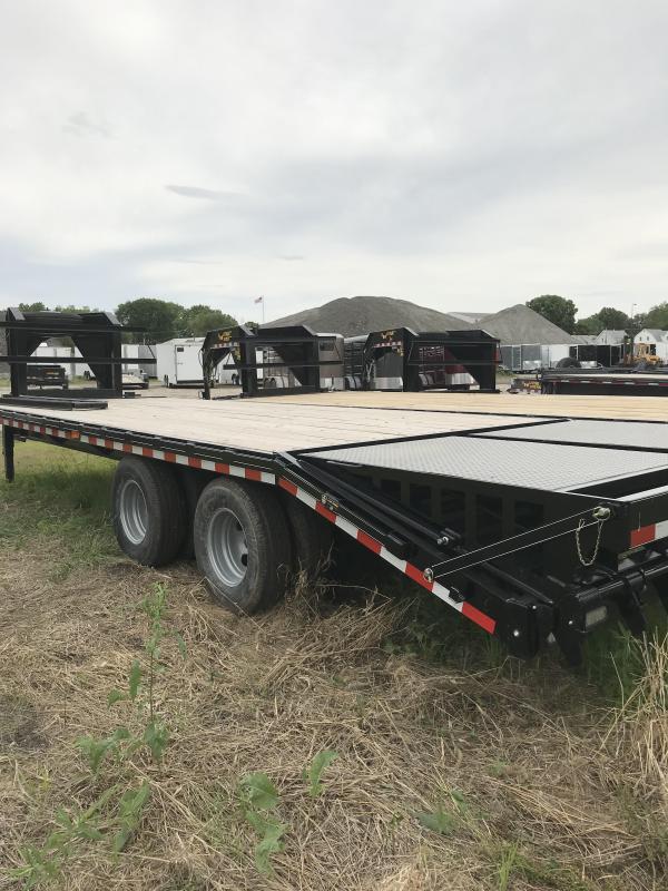 2019 Doolittle 102x25 Brute Force Equipment Trailer Gooseneck 22K GVWR Mammoth Ramps