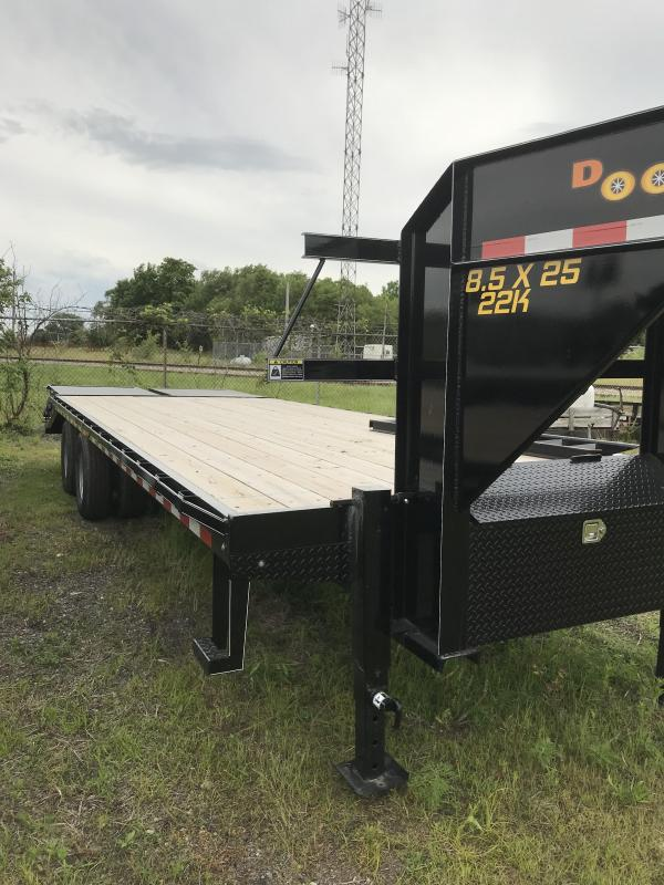 2019 Doolittle 102x25 Brute Force Equipment Trailer Gooseneck 22K GVWR Mammoth Ramps