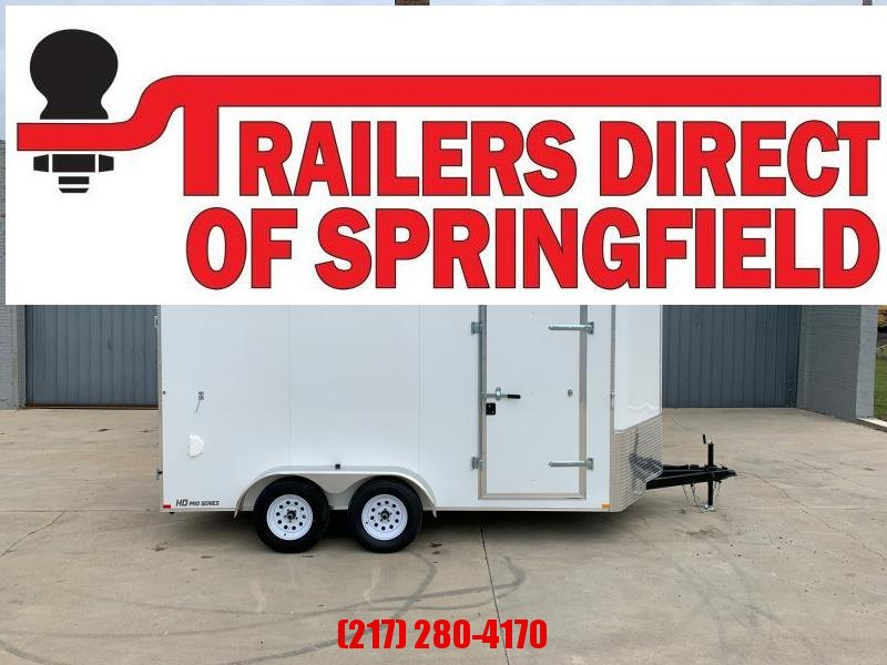 2021 Doolittle 7X14 Cargo Trailer 7K GVWR Barn Doors RV Latch w/ Key Entry