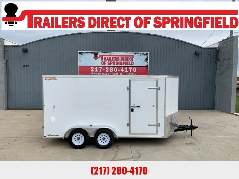 2021 Doolittle 7X14 Cargo Trailer 7K GVWR Barn Doors RV Latch w/ Key Entry