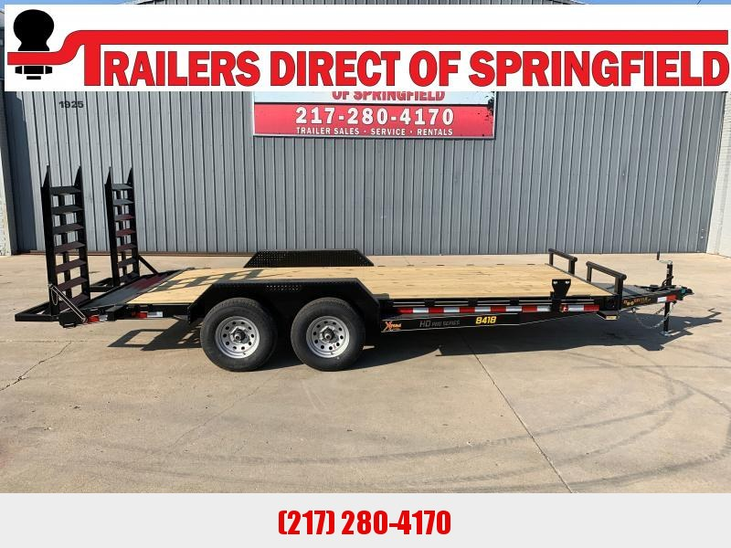 2021 Doolittle 84X18 Xtreme Equipment Trailer 9800 GVWR Flip Up Ramps Spare Tire Carrier