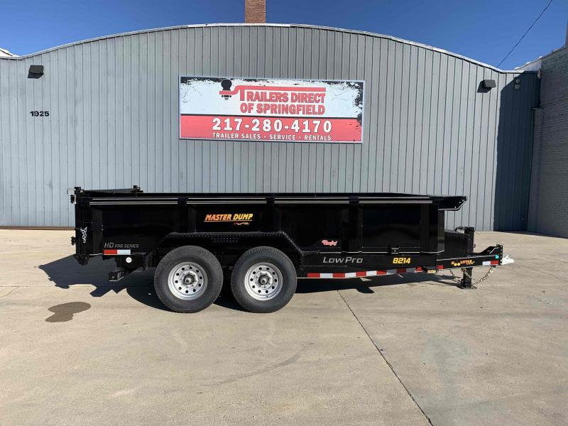2021 Doolittle 82X14 Master Dump Trailer 14000 GVWR Scissor Lift Radial Tires LED Lighting Wireless Remote Self Store Ramps 3 Way Spreader Gate