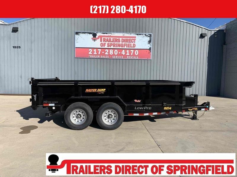 2021 Doolittle 82X14 Master Dump Trailer 14000 GVWR Scissor Lift Radial Tires LED Lighting Wireless Remote Self Store Ramps 3 Way Spreader Gate