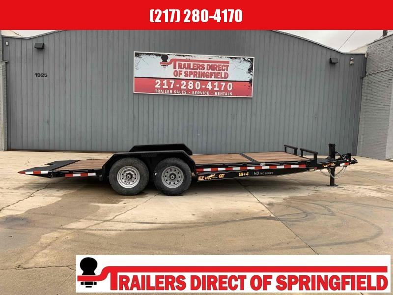 2020 Doolittle 82X20 Ez Loader GT Equipment Trailer (16+4) 14000 GVWR Adj. Coupler 10K Drop Leg Jack Double Electric Brakes LED Lights