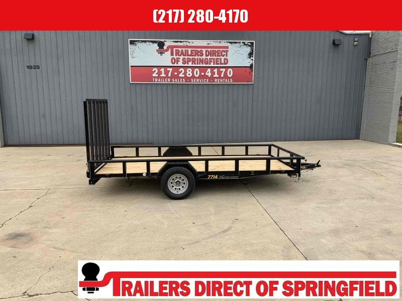 2021 Doolittle 77X14 Pipe Top Utility Trailer 2990 GVWR 5' Mesh Gate w/ Spring Assist LED LIGHTS Radial Tires
