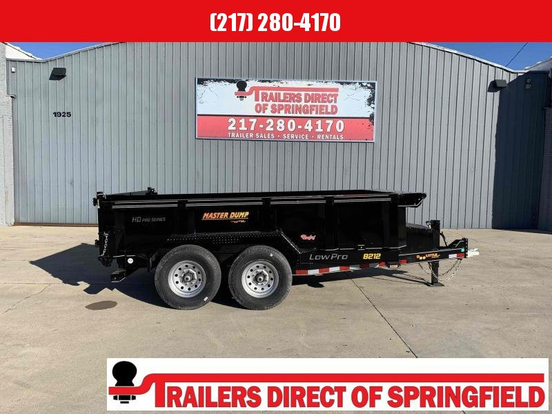 2021 Doolittle 82X12  Master Dump Trailer 14000 GVWR Scissor Lift Radial Tires LED Lighting Wireless Remote 3 Way Spreader Gate