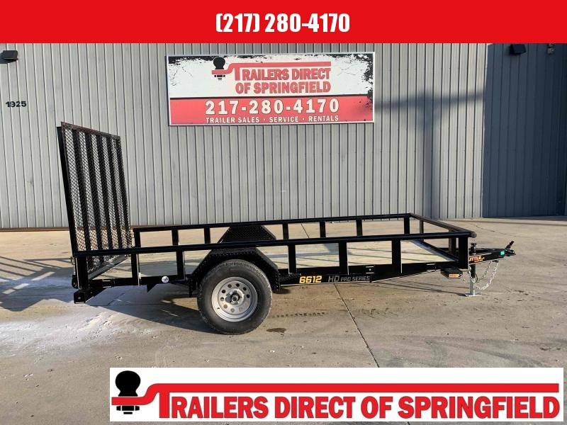 2021 Doolittle 66X12 Pipe Top Utility Trailer 2990 GVWR 5' Mesh Gate w/ Spring Assist LED LIGHTS RADIAL Tires