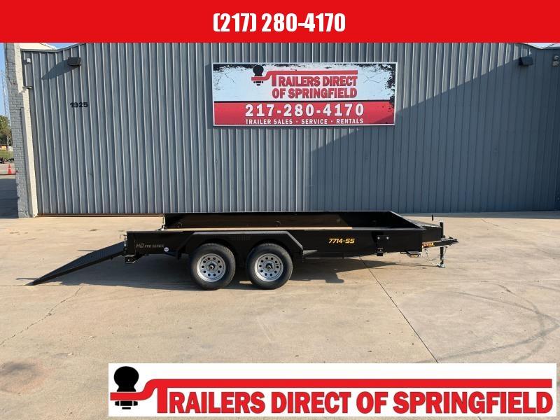2021 Doolittle 77X14 Steel Side Utility Trailer 7K GVWR Spare Tire Carrier 5' Mesh Gate