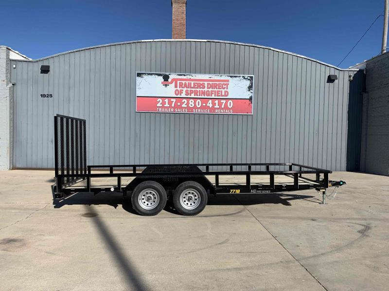 2021 77X18 Pipe Top Utility Trailer Dare to Compare!