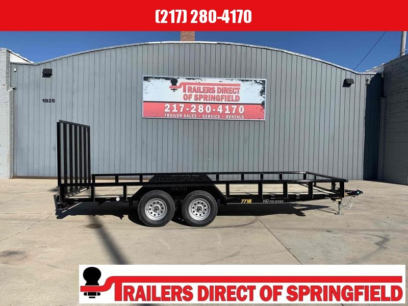 2021 Doolittle 77X18 Pipe Top Utility Trailer 7000 GVWR 5' Mesh Gate w/ Spring Assist LED LIGHTS Radial Tires Double Electric Brakes