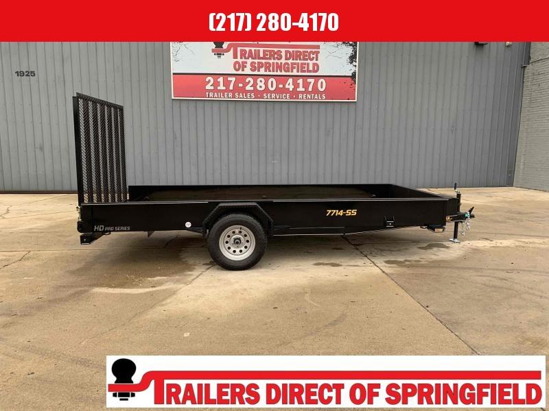 2021 Doolittle 77X14  Steel Side Trailer 2990 5' Mesh Gate w/ Spring Assist LED Lights Radial Tires
