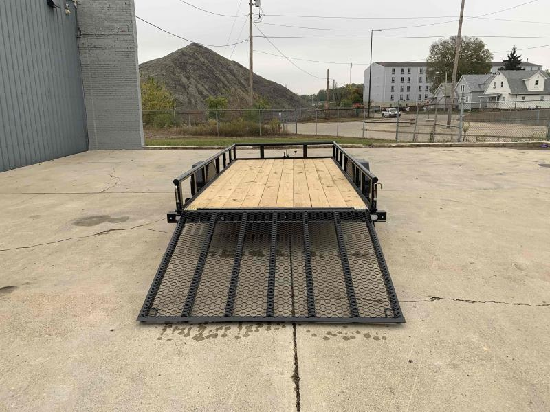 2021 Doolittle 77X14 Pipe Top Utility Trailer  2990 GVWR 5' Mesh Gate