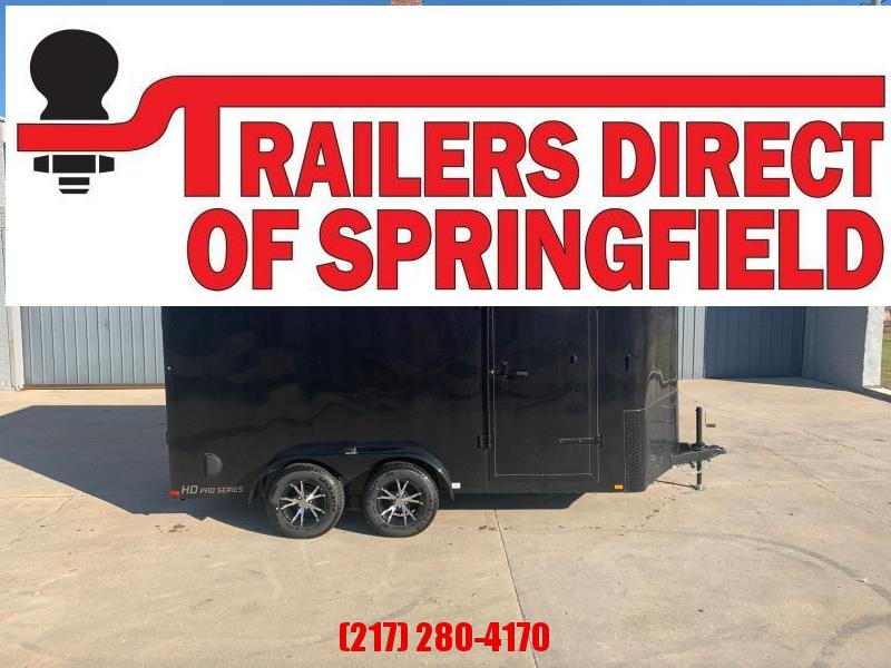 "2019 Doolittle 7x14 Cargo Trailer 7K GVWR Black Out Ramp Door Alum Wheel 6"" Xtra Ht"