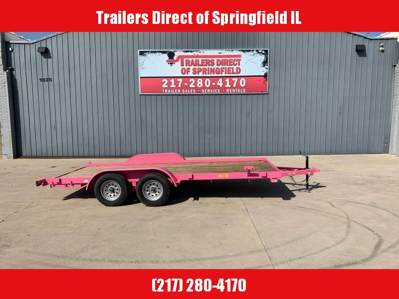 2019 Pink Doolittle 84X16 Utility 7K GVWR 5' SS Ramps Spare Tire Carrier