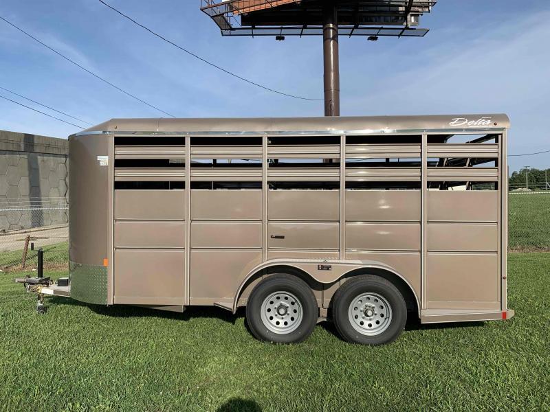 2020 Delta Manufacturing Horse Trailer Livestock Trailer
