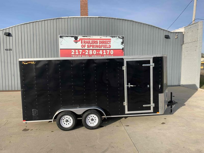 "2019 Doolittle 7x16 Cargo Trailer 7K GVWR Ramp Door 12"" Extension Flap Ramp Door Spacer D Rings"