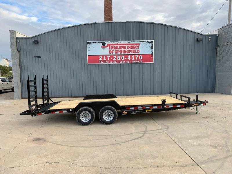 2021Doolittle 84X20 Xtreme Equipment Trailer 9800 GVWR Flip Up Ramps Spare Tire Carrier