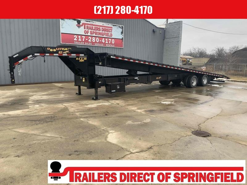 2019 Doolittle 102X36 Gooseneck Full Tilt Brute Force Equipment Trailer 22000 GVWR
