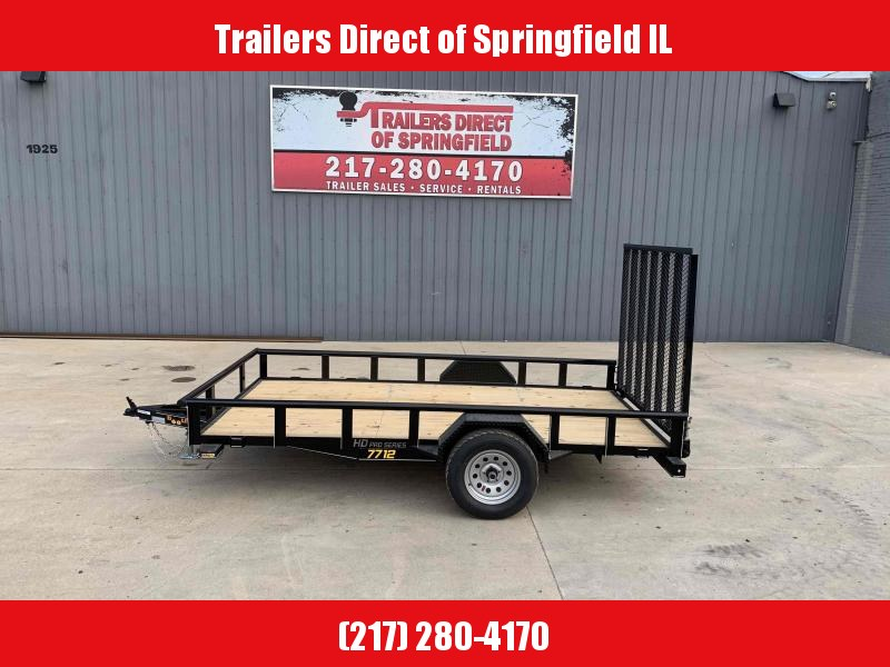 2021 Doolittle 77X12 Pipe Top Utility 2990 GVWR 5' Mesh Gate