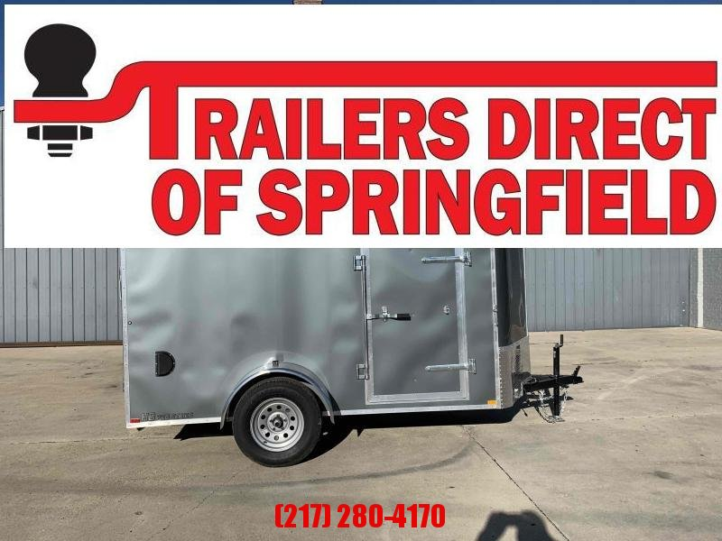 "2021 Doolittle 5'X10' Cargo Trailer V Nose 31"" Side Door 2990 GVWR S/A Ramp Door W/ Spring Assist"