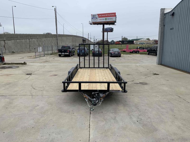2021 DooLitttle 77X14 Pipe Top Utility Trailer 7K GVWR 5' Mesh Gate