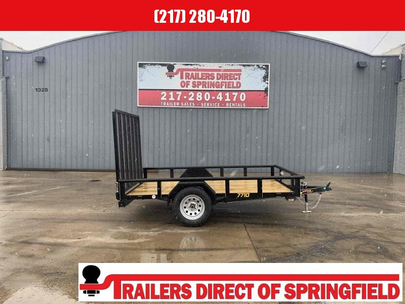 2021 Doolittle 77X10 Pipe Top Utility Trailer 2990 5' Mesh Gate w/ Spring Assist LED LIGHTS Radial Tires