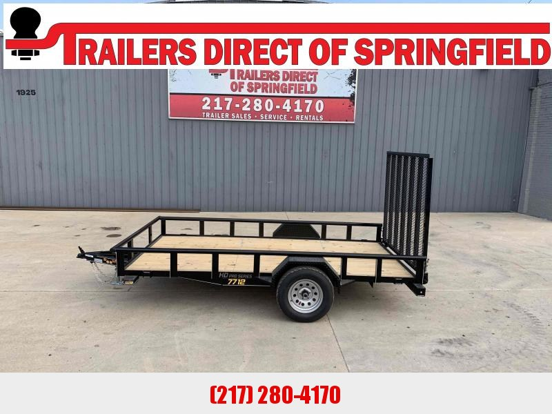 2021 Doolittle 77X12 Steel Side Utility Trailer 2990 GVWR 5' Mesh Gate w/ Spring Assist LED LIGHTS RADIAL TIRES