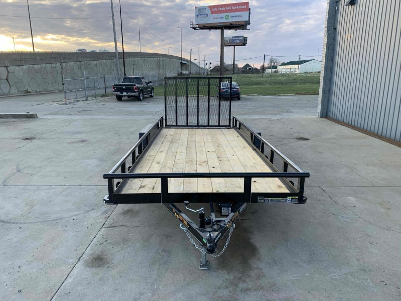 "2021 Doolittle 84X20 Pipe Top Utility Trailer 7K GVWR 5' Mesh Gate Double Electric Brake 2' Dovetail 3"" Drop"