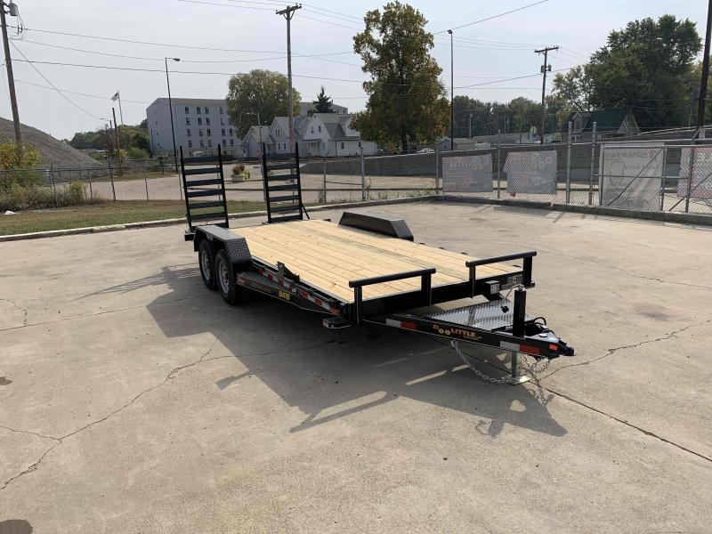 2021 Doolittle 84X18 Xtreme Equipment Trailer 9800 GVWR Flip Up Ramps Spare Tire Carrier