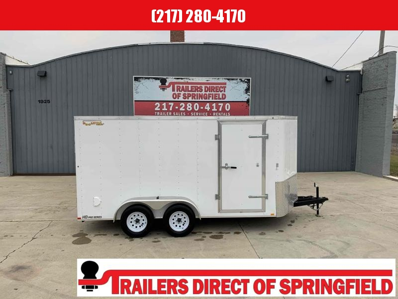 2020 Doolittle 7X14 Cargo Trailer 7000 GVWR Ramp Door w/ Spring assist