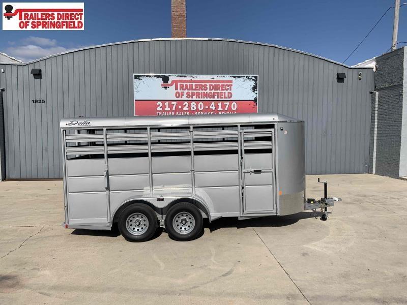 2020 Delta Silver 6X16 Livestock Trailer Tandem Axle 8190 GVWR