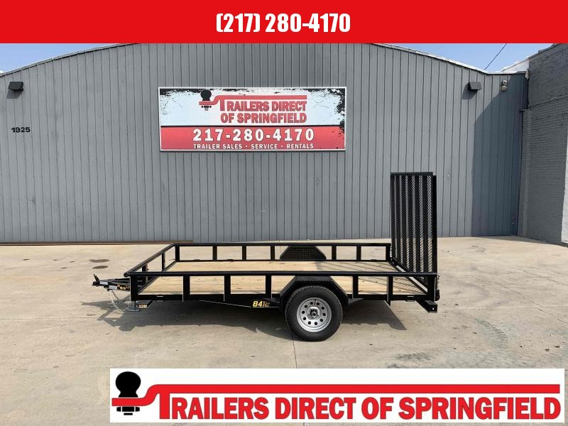 2021 Doolittle 84X12 Pipe Top Utility Trailer 2990 GVWR 5' Mesh Gate w/ Spring Assist LED Lights Radial Tires