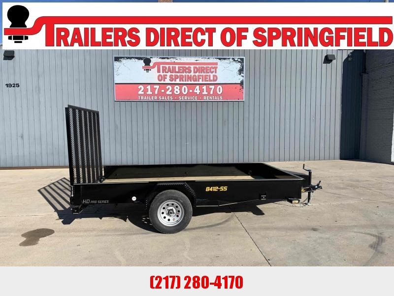 2021 Doolittle 84X12 Steel Side Utility Trailer 2990 GVWR 5' Mesh Gate w/ Spring Assist LED LIGHTS RADIAL TIRES