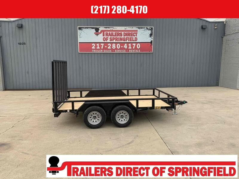 2021 Doolittle 84X12 Pipe Top Utility Trailer 7K GVWR 5' Mesh Gate