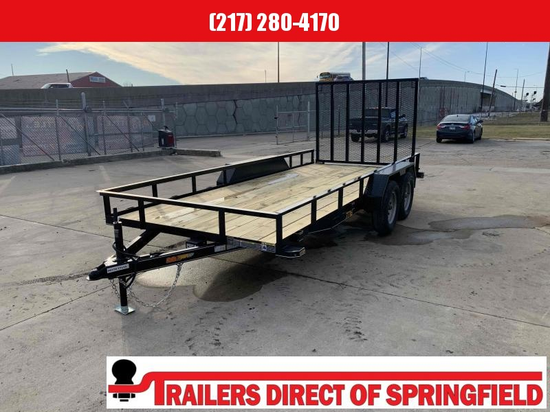 2021 Doolittle 77X16 Pipe Top Rally Sport Utility Trailer 7000 GVWR Double Electric Brakes 5' Mesh Gate