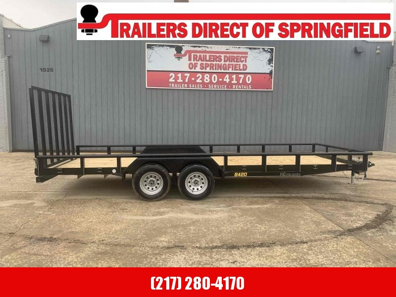 2021 84X20 Pipe Top Utility Trailer Dare to Compare!