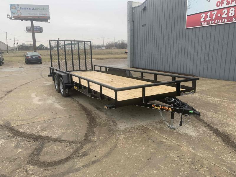 2021 Doolittle 84X20 Pipe Top Utility Trailer 7000 GVWR 5' Mesh Gate w/ Spring Assist LED LIGHTS RADIAL Tires Double Electric Brakes