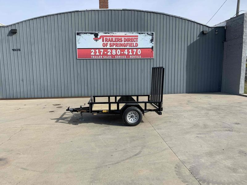 2021 Doolittle 66X8 Pipe Top Utility Trailer 2990 GVWR 5' Mesh Gate