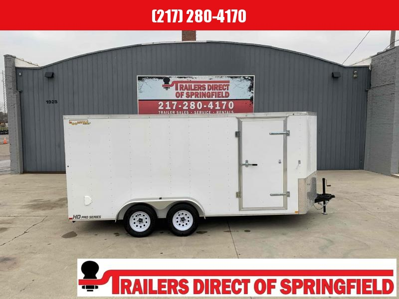2020 Doolittle 7X16 Cargo Trailer Tandem Axle 7000 GVWR Ramp Door